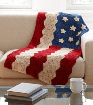 American Flag Afghan for 4th of July