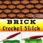 Brick or Tile Crochet Stitch