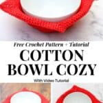 Cotton Bowl Cozy - Free Crochet Pattern with Video