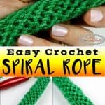 Easy Crochet Spiral Tube