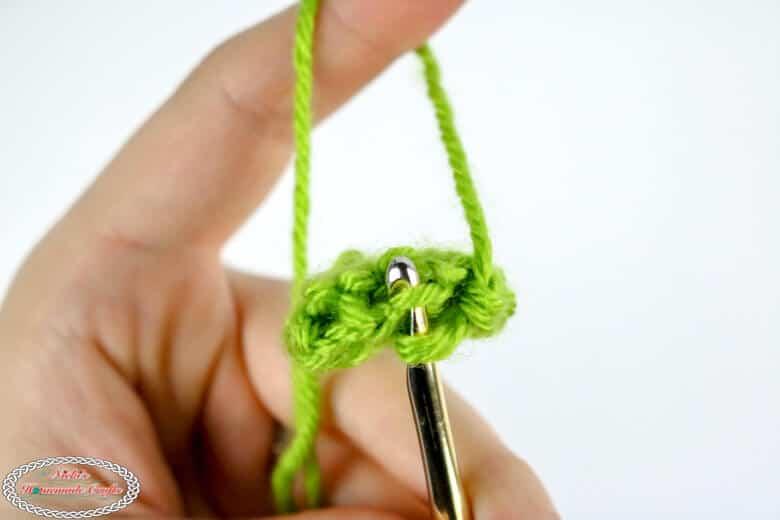 crochet tube close up