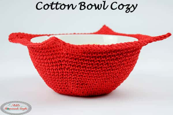Microwave Cotton Bowl Cozy - Free Crochet Pattern