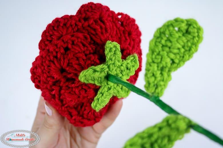 crochet rose with stem pattern free
