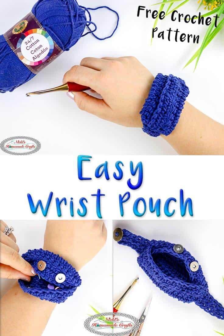 crochet wrist pouch crochet pattern