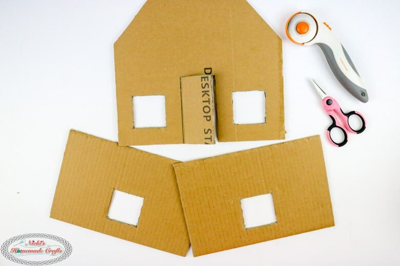 Gingerbread House cardboard sides
