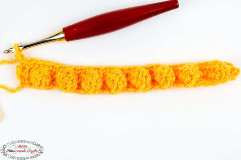 Honeycomb Crochet Stitch - row 2
