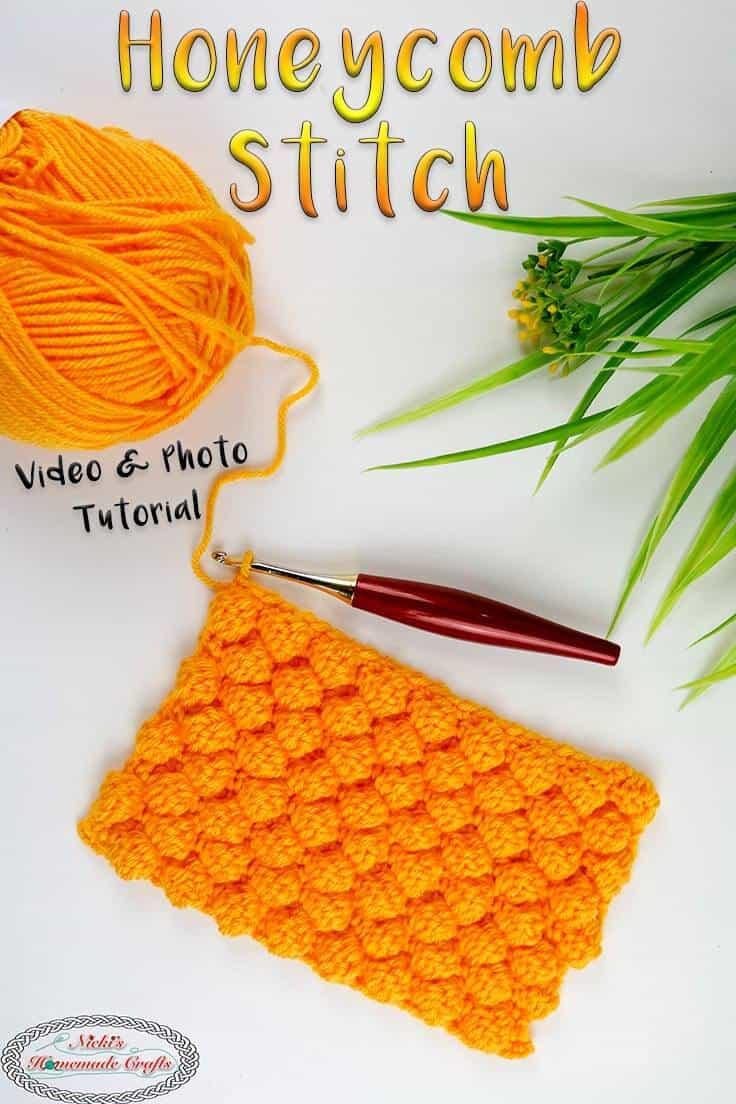 Honeycomb Crochet Stitch Tutorial