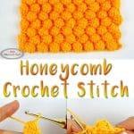 Honeycomb Crochet Stitch Video and Photo Tutorial