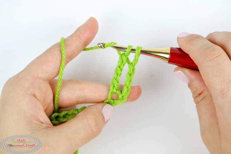 Finishing the Double Treble Crochet stitch
