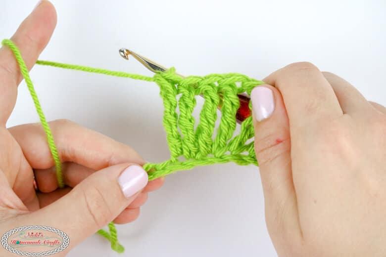Double Treble Crochet Increase