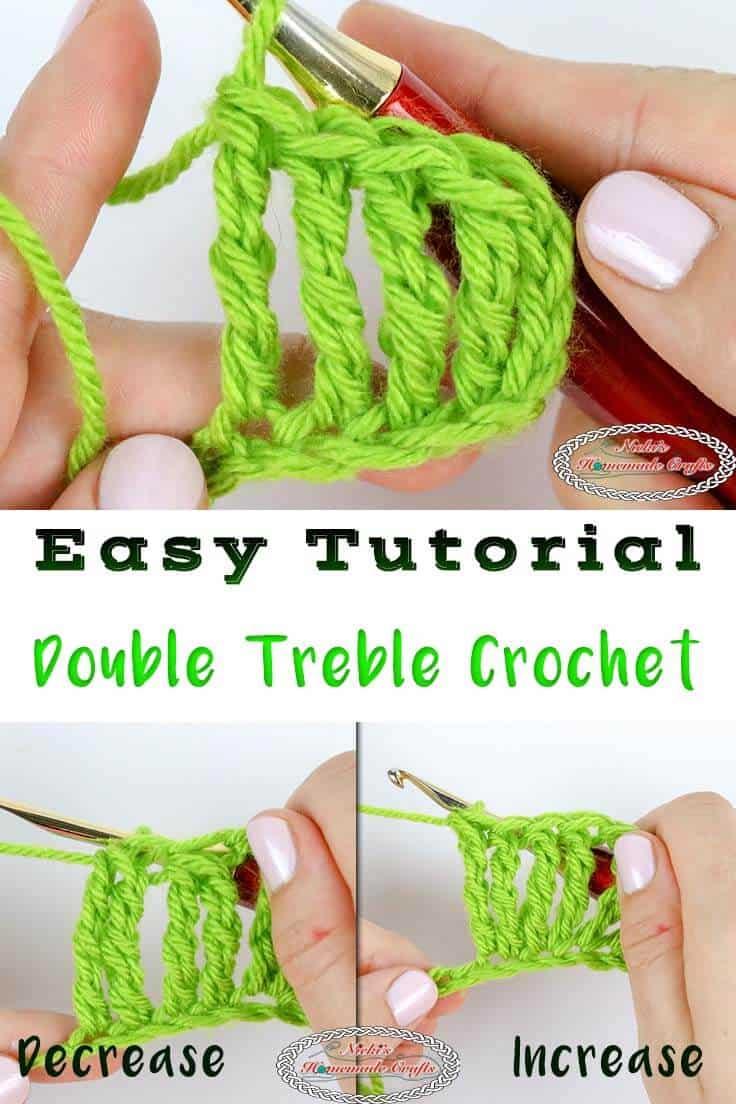 Learn to crochet the Double Treble Crochet