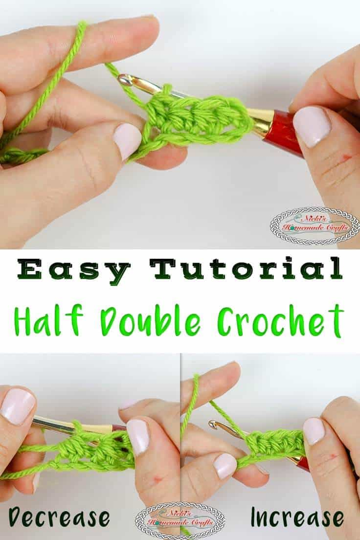 How to crochet the Half Double Crochet - beginner guide tutorial