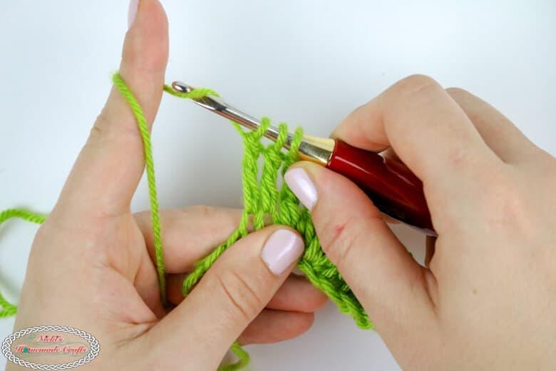 treble crochet decrease tutorial