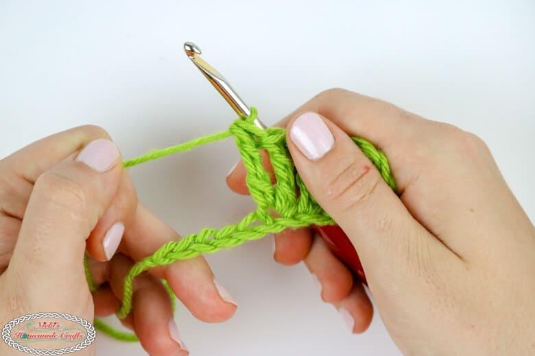 treble crochet increase tutorial