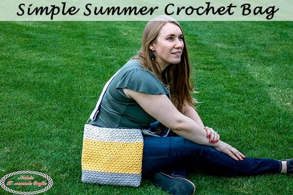 Easy Crochet Summer Bag with Fabric Lining – Free Pattern