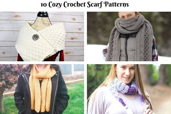 10 Most Popular Free Crochet Scarf Patterns for Fall and Winter
