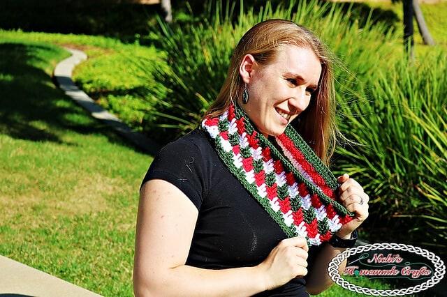 apache tears infinity scarf free crochet pattern