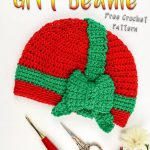 Christmas Gift Beanie as a Free Crochet Pattern