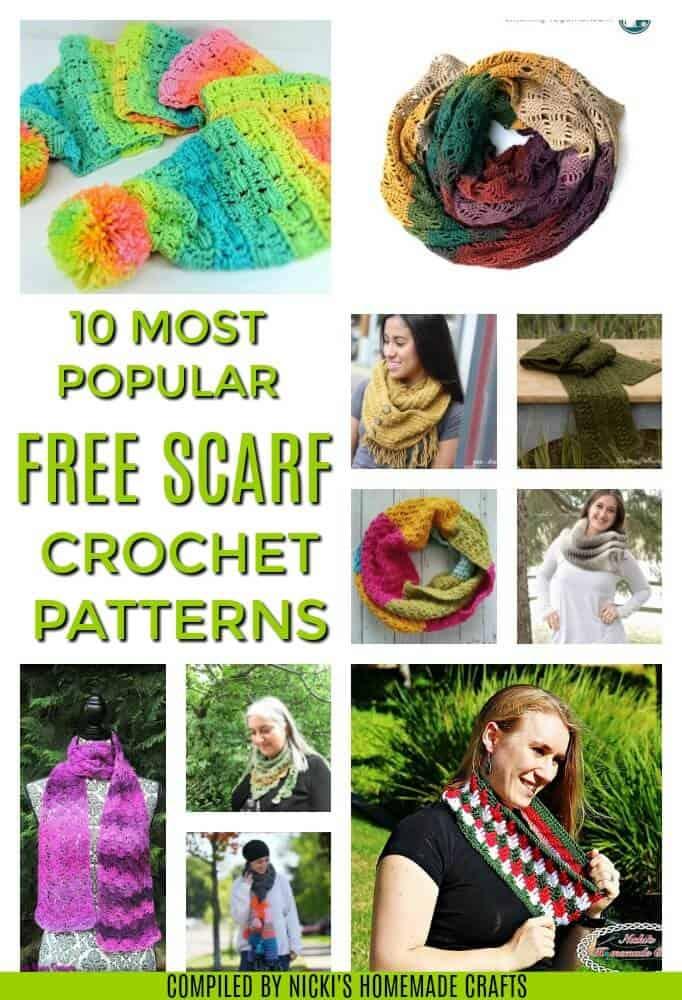 10 free crochet scarf patterns