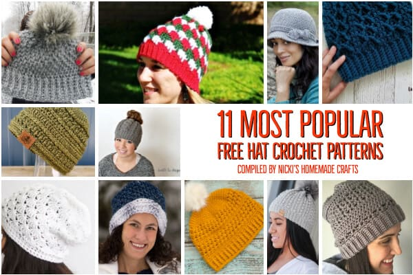 11 Most popular free crochet patterns for hats