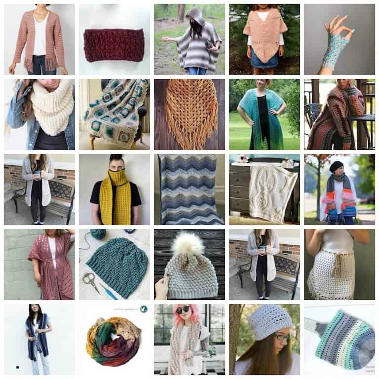 Over 20 Patterns in the Crochet All About Layer Bundle
