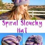 Spiral Slouchy Hat Free Crochet Pattern Caron X Pantone