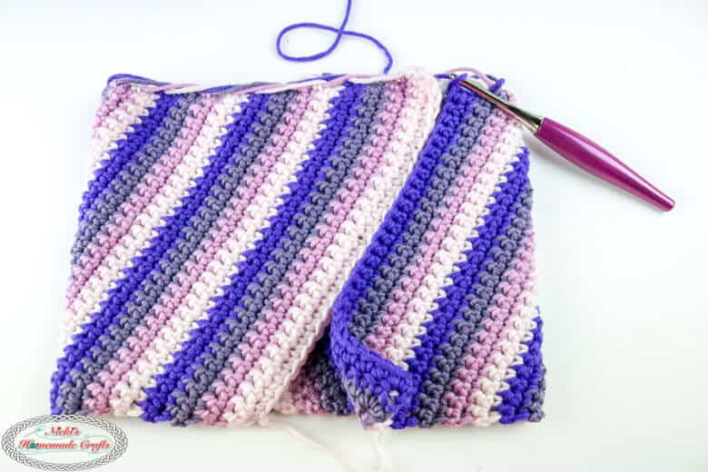 fold and crochet together Spiral Slouchy Hat