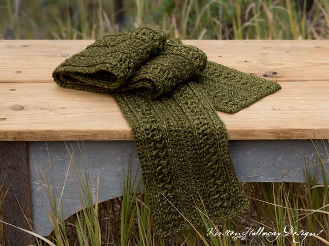 wanderlust scarf free crochet pattern