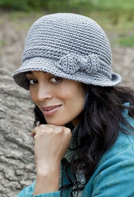 elegant crochet hat