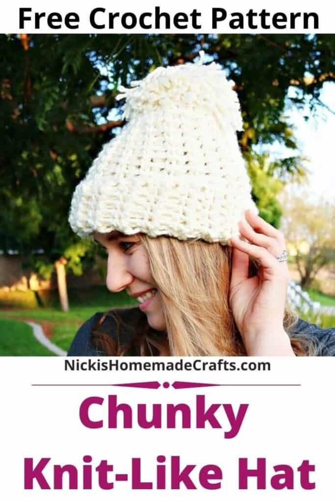 Chunky Knit-Like Hat Pattern