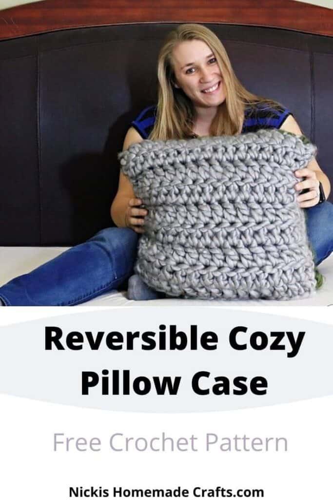 free crochet reversible pillow pattern