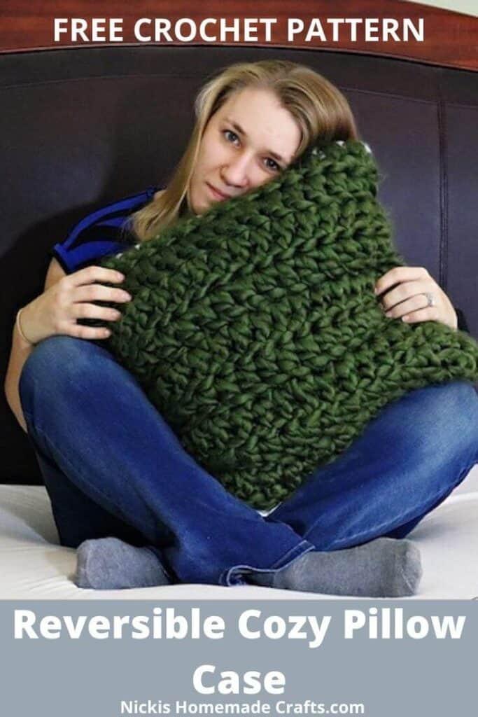 reversible pillow crochet pattern