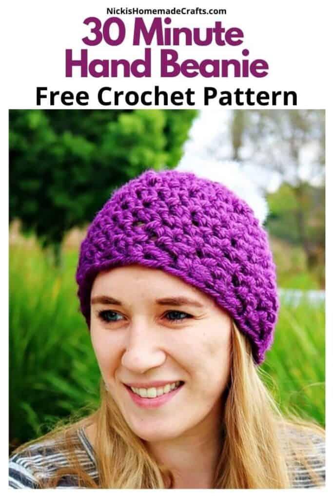 Crochet 30 Minute Hand Beanie