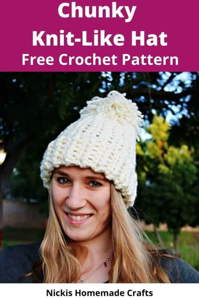 Crochet Chunky Knit-Like Hat