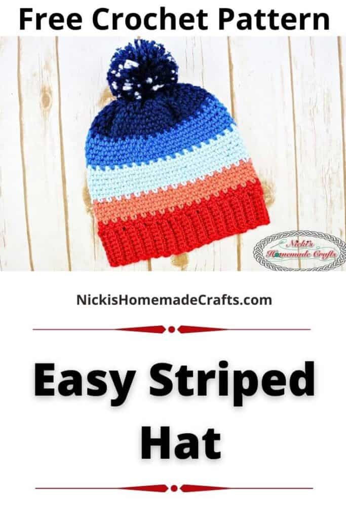 Crochet Easy Striped Hat
