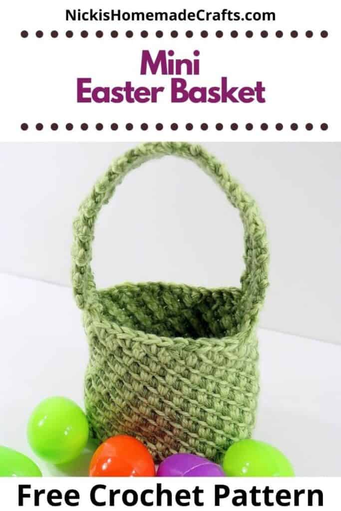 Crochet Mini Easter Basket