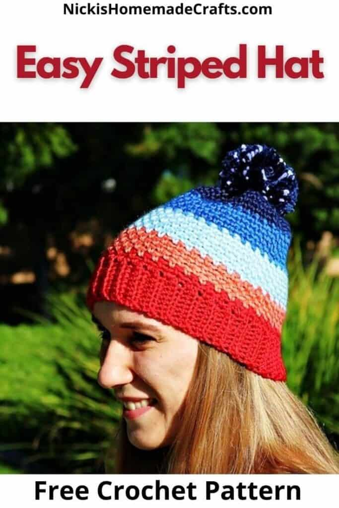 Easy Striped Hat - Free Crochet Pattern