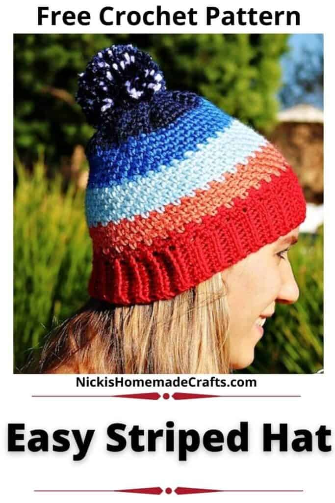 Easy Striped Hat Pattern