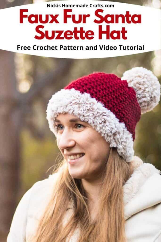 crochet santa hat pattern
