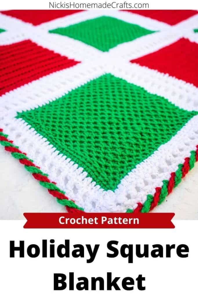 crochet Holiday Square Blanket