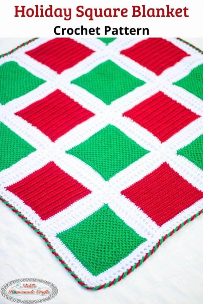 Holiday Square Blanket crochet pattern