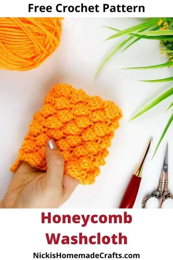 Honeycomb Washcloth - Free Crochet Pattern