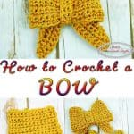 Bow crocheted with one color