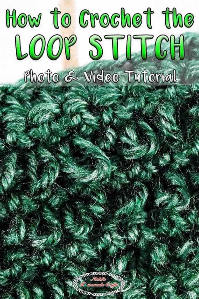 Crocheting the loop stitch easily