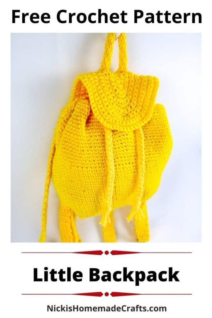 Mini Crochet Backpack Pattern
