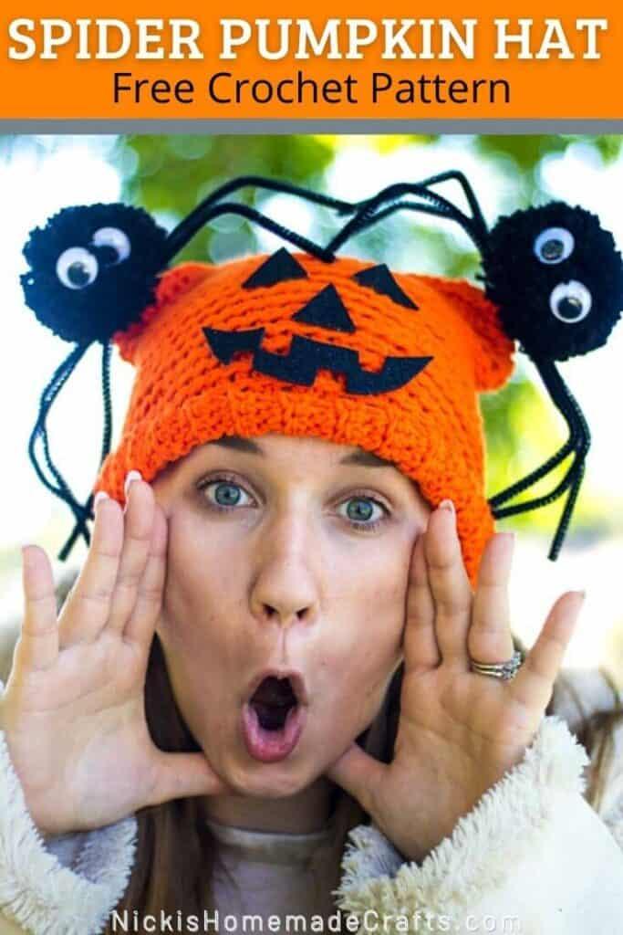 Spider pumpkin Hat
