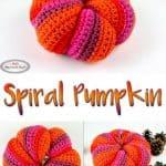 Spiral Pumpkin for fall and halloween