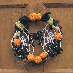 fall halloween free crochet pattern wreath