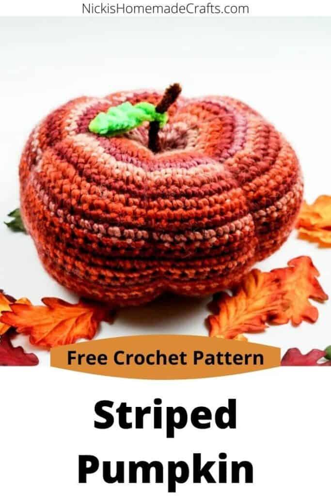 crochet striped pumpkin