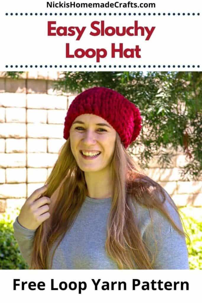 Crochet Easy Slouchy Loop Hat